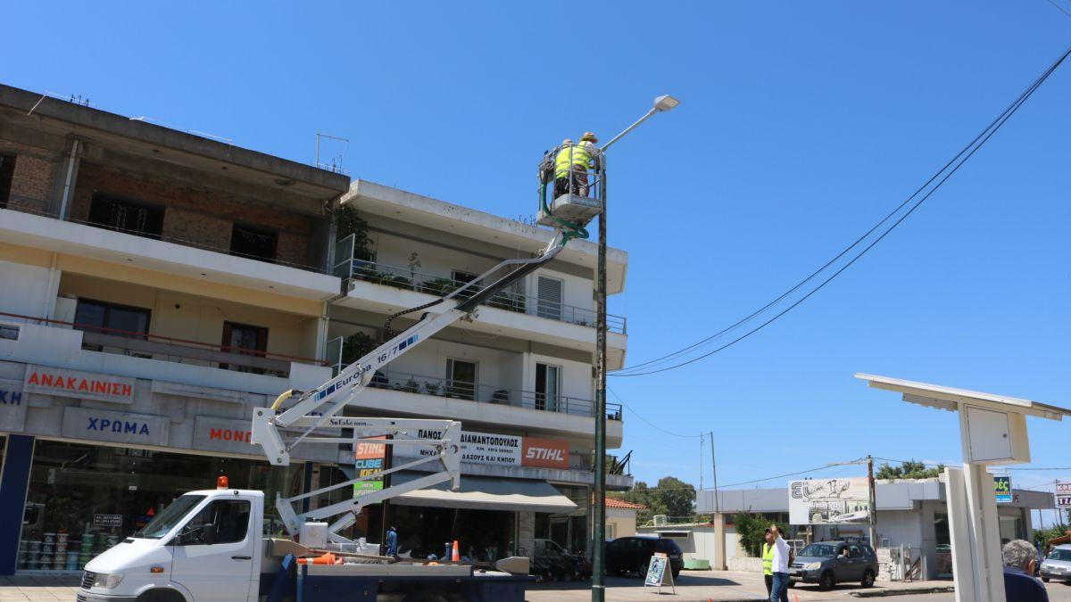Δήμος Πύργου: Ξεκίνησε η αντικατάσταση των λαμπτήρων με λάμπες ledστην οδό Πατρών (Photos- ΒΙΝΤΕΟ)