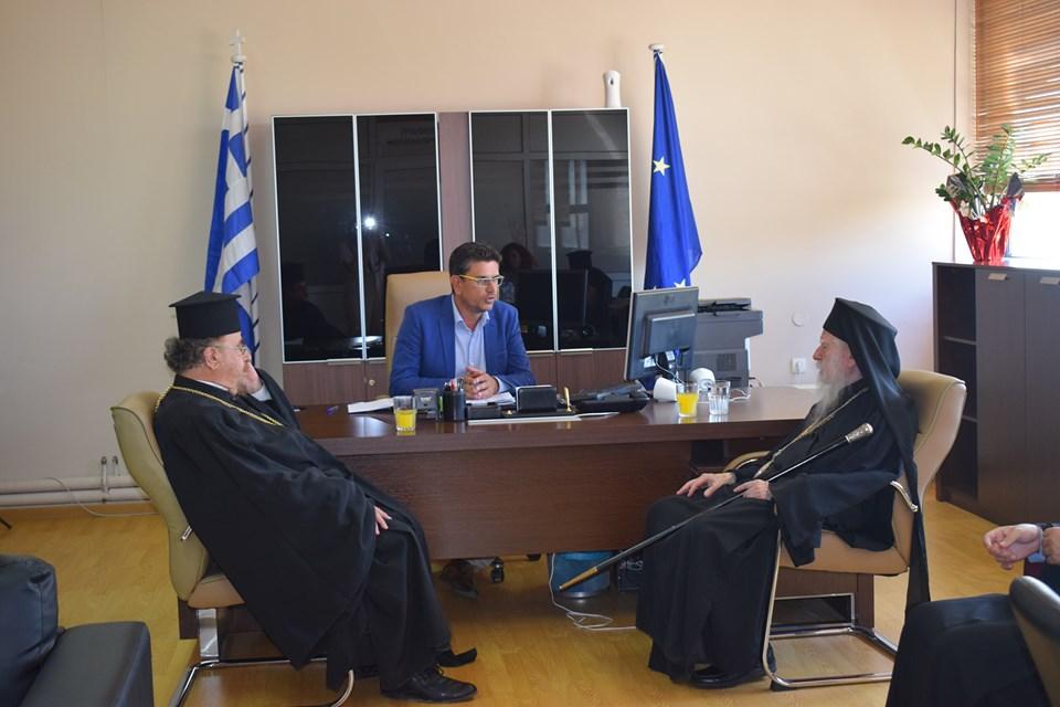 Τον Δήμαρχο Ανδραβίδας-Κυλλήνης κ. Λέντζα Ιωάννη επισκέφθηκε ο Σεβασμιότατος Μητροπολίτης Ηλείας κ.κ. Γερμανός