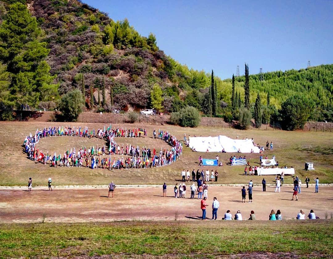 Αρχαία Ολυμπία: Μήνυμα ειρήνης σε όλο τον κόσμο από τους μαθητές σχολείων - Εκδηλώσεις για τον εορτασμό της Παγκόσμιας Ημέρας Ειρήνης (Photos)