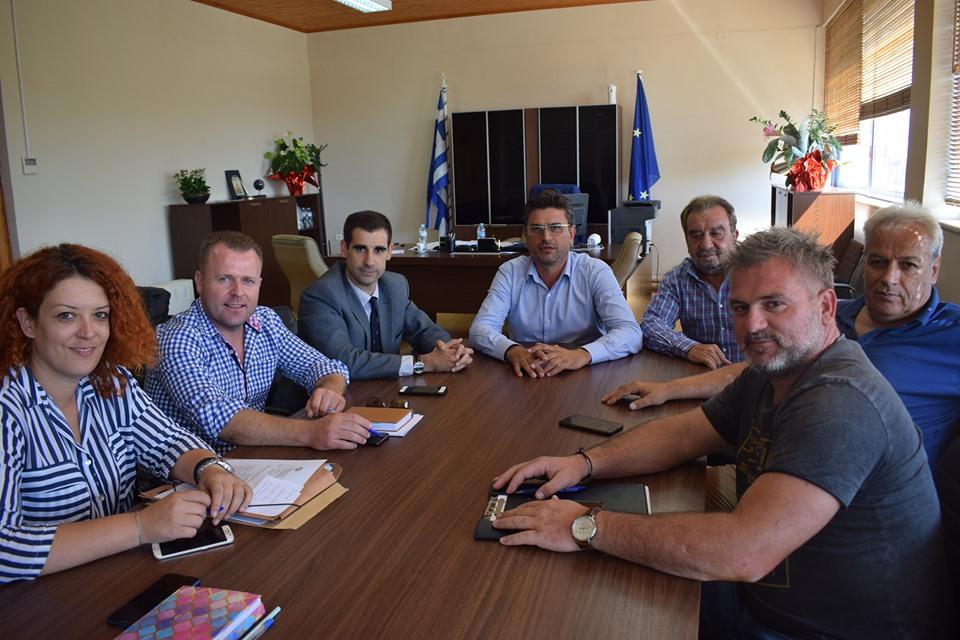 Ο Αντιπεριφερειάρχης Ηλείας κ. Γιαννόπουλος Βασίλης επισκέφθηκε τον Δήμαρχο Ανδραβίδας-Κυλλήνης κ. Λέντζα Ιωάννη