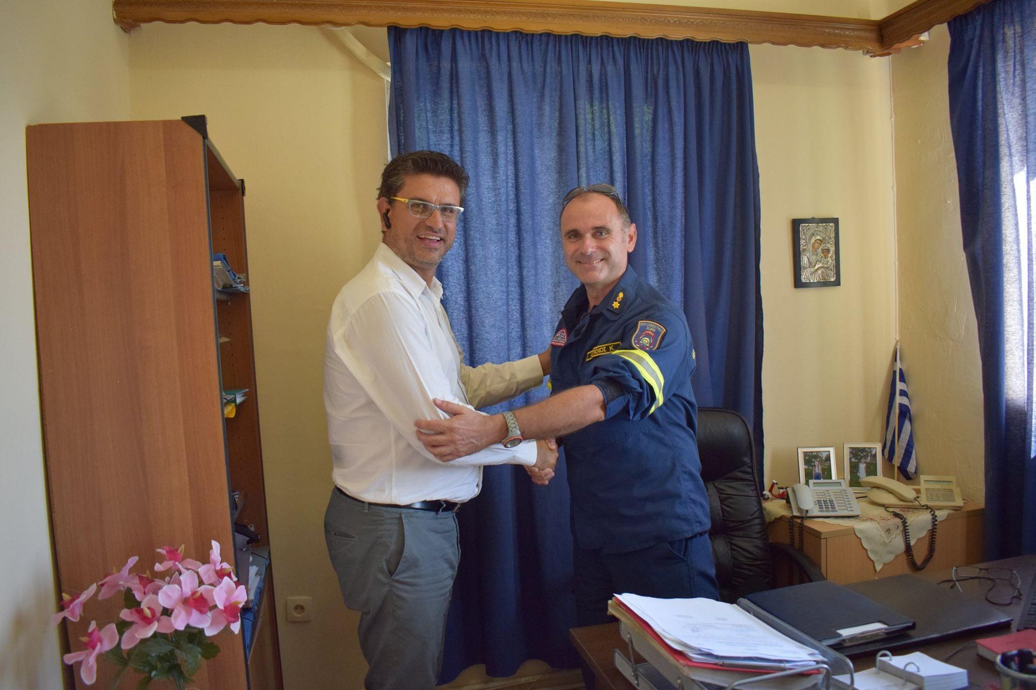 Δήμος Ανδραβίδας-Κυλλήνης: Εθιμοτυπική επίσκεψη του Δημάρχου Γιάννη Λέντζα στον Διοικητή της 117ΠΜ Ανδραβίδας (photos)