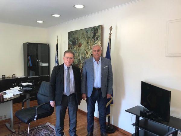 Δήμος Ζαχάρως: Συνάντηση του Δημάρχου Κ. Αλεξανδρόπουλου με τον ΓΓ του υπ. Εσωτερικών Μιχάλη Σταυριανουδάκη