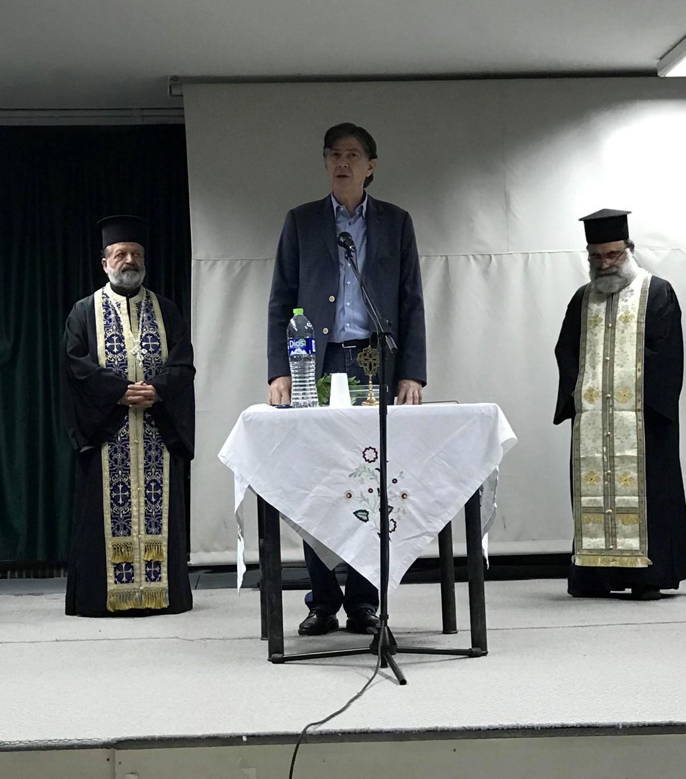 Ο Δημήτρης Μπαξεβανάκης στο ΣΔΕ Βάρδας