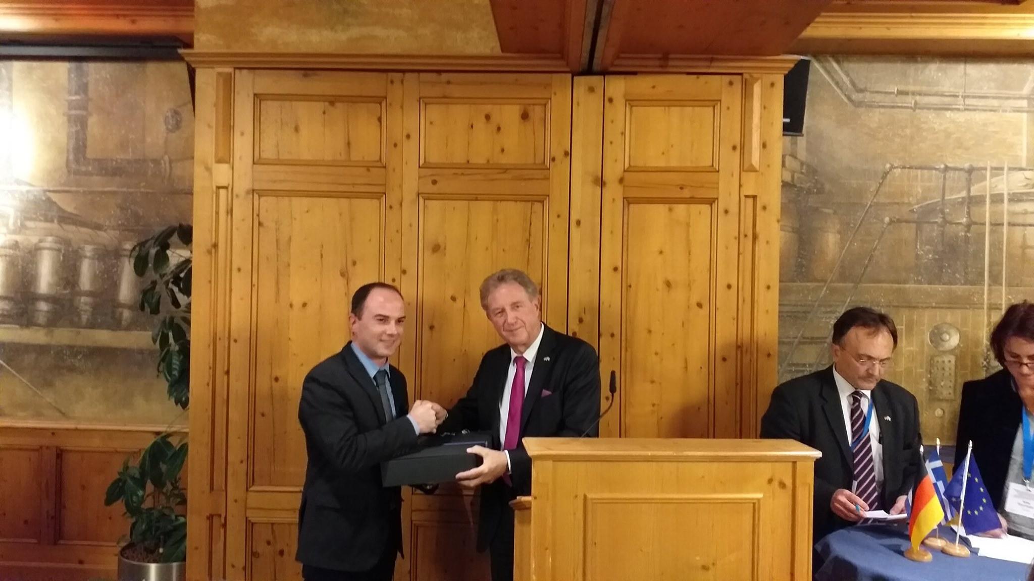 Ο Αντιπεριφερειάρχης, Λάμπρος Δημητρογιάννης, εκπροσώπησε την Π.Δ.Ε. στην Ελληνογερμανική Συνέλευση