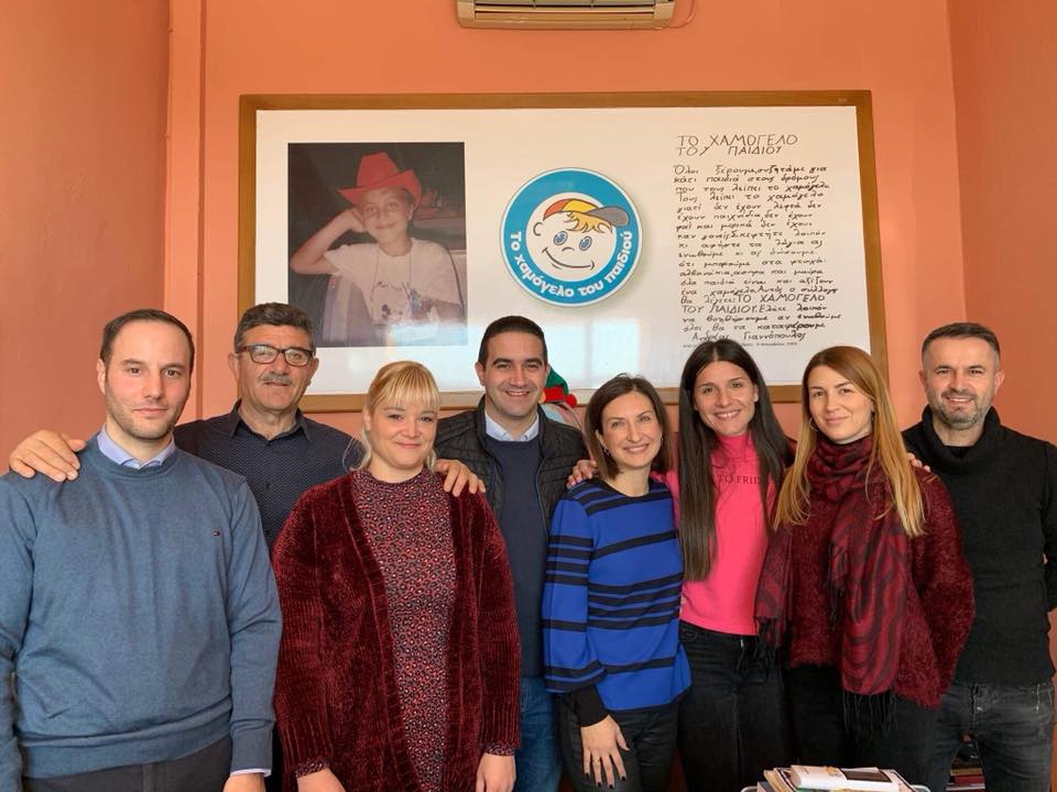 Επίσκεψη Μιχάλη Κατρίνη στο Χαμόγελο του Παιδιού: «Ας κάνουμε το 2020 μια χρονιά κοινωνικής αλληλεγγύης»