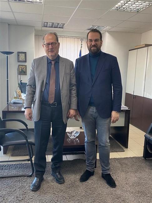 ΠΔΕ: Συνάντηση του Περιφερειάρχη Ν. Φαρμάκη με τον Περιφερειάρχη Πελοποννήσου. Π. Νίκα
