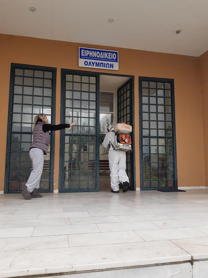 Δήμος Αρχαίας Ολυμπίας: Απολυμάνσεις προληπτικά στον Δήμο λόγω κορωνοιού