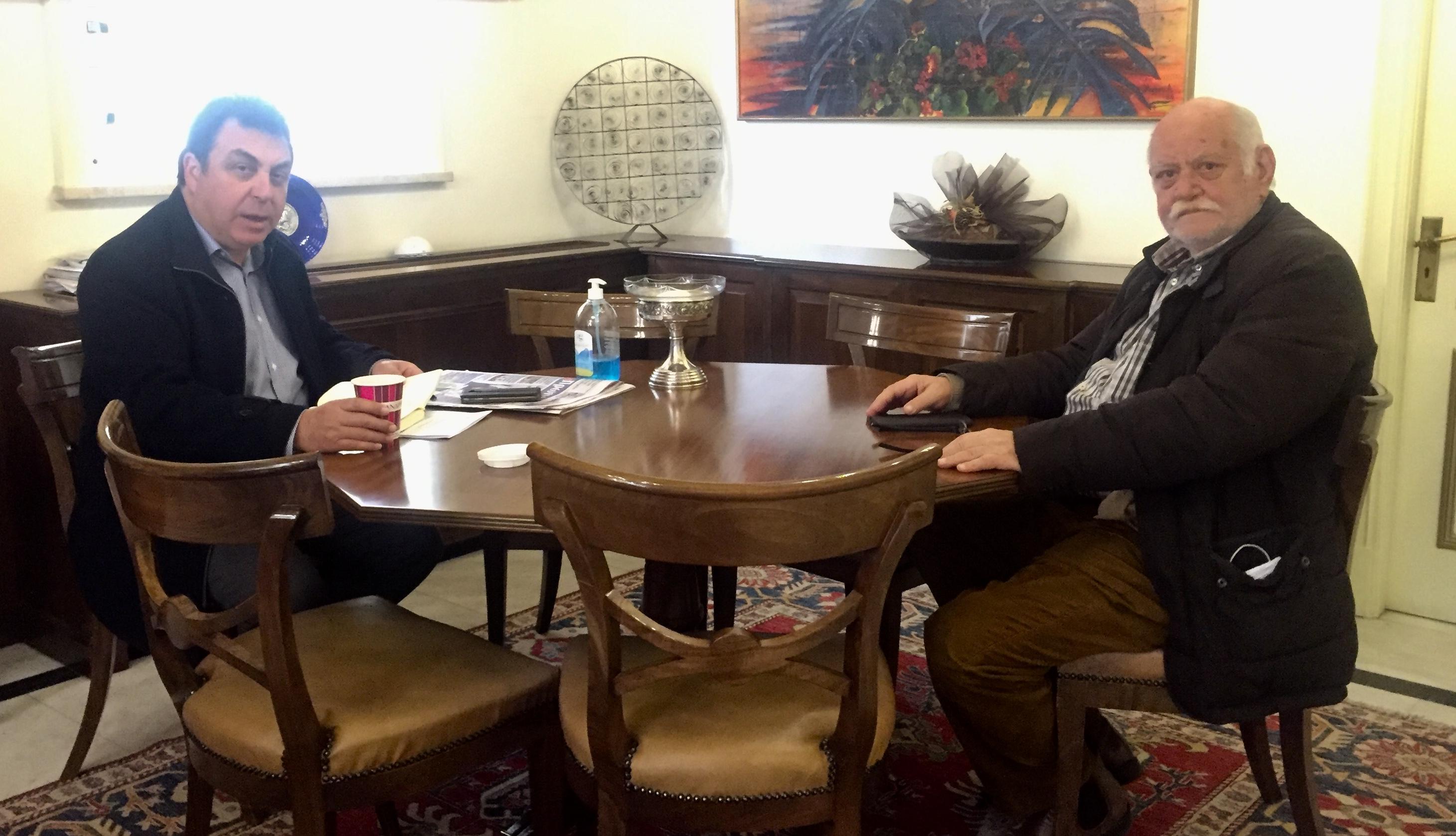 Δήμος Πύργου: Συνάντηση Αντωνακόπουλου-Χριστόπουλου- Μέτρα στήριξης του Νοσοκομείου Πύργου για την αντιμετώπιση του κορωνοϊού