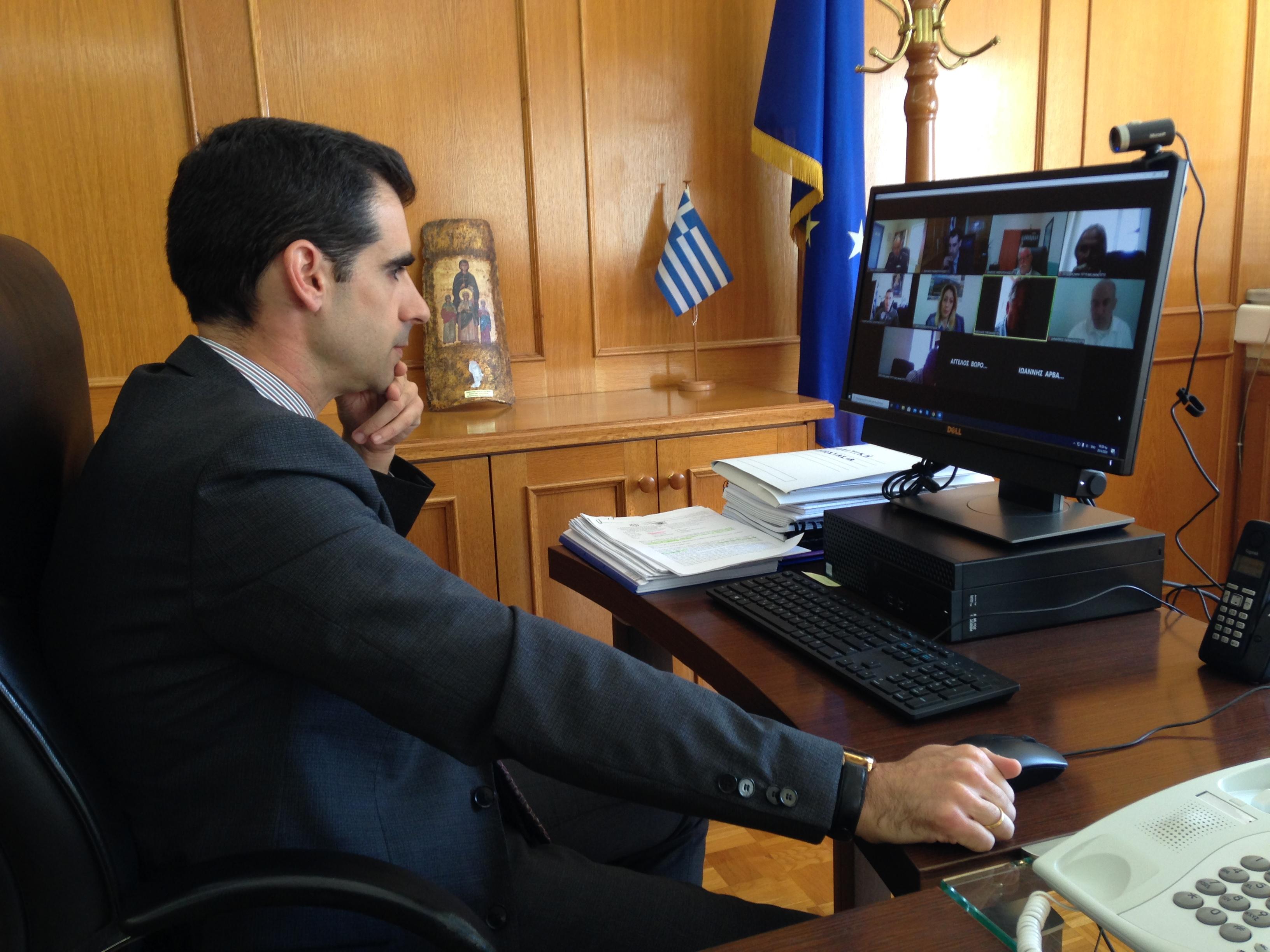 Πύργος: Με τηλεδιάσκεψη η συνεδρίαση του Σ.Ο.Π.Π, ενόψει αντιπυρικής περιόδου 2020,υπό την προεδρία του Αντιπ/ρχη Π.Ε Ηλείας Β. Γιαννόπουλου
