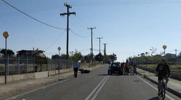 Αμαλιάδα: Εκτροπή μοτοσυκλέτας με τραυματισμό 2 ατόμων στο δρόμο προς την Κουρούτα