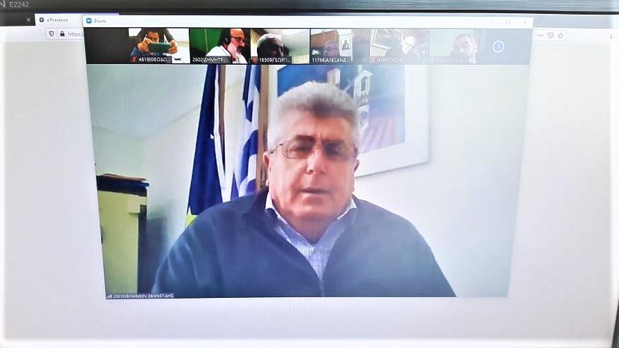 ΠΔΕ: Σε τηλεδιάσκεψη με Αντιπεριφερειάρχες Αγροτικής Ανάπτυξης συμμετείχε ο Θ. Βασιλόπουλος για τα αγροτικά ζητήματα