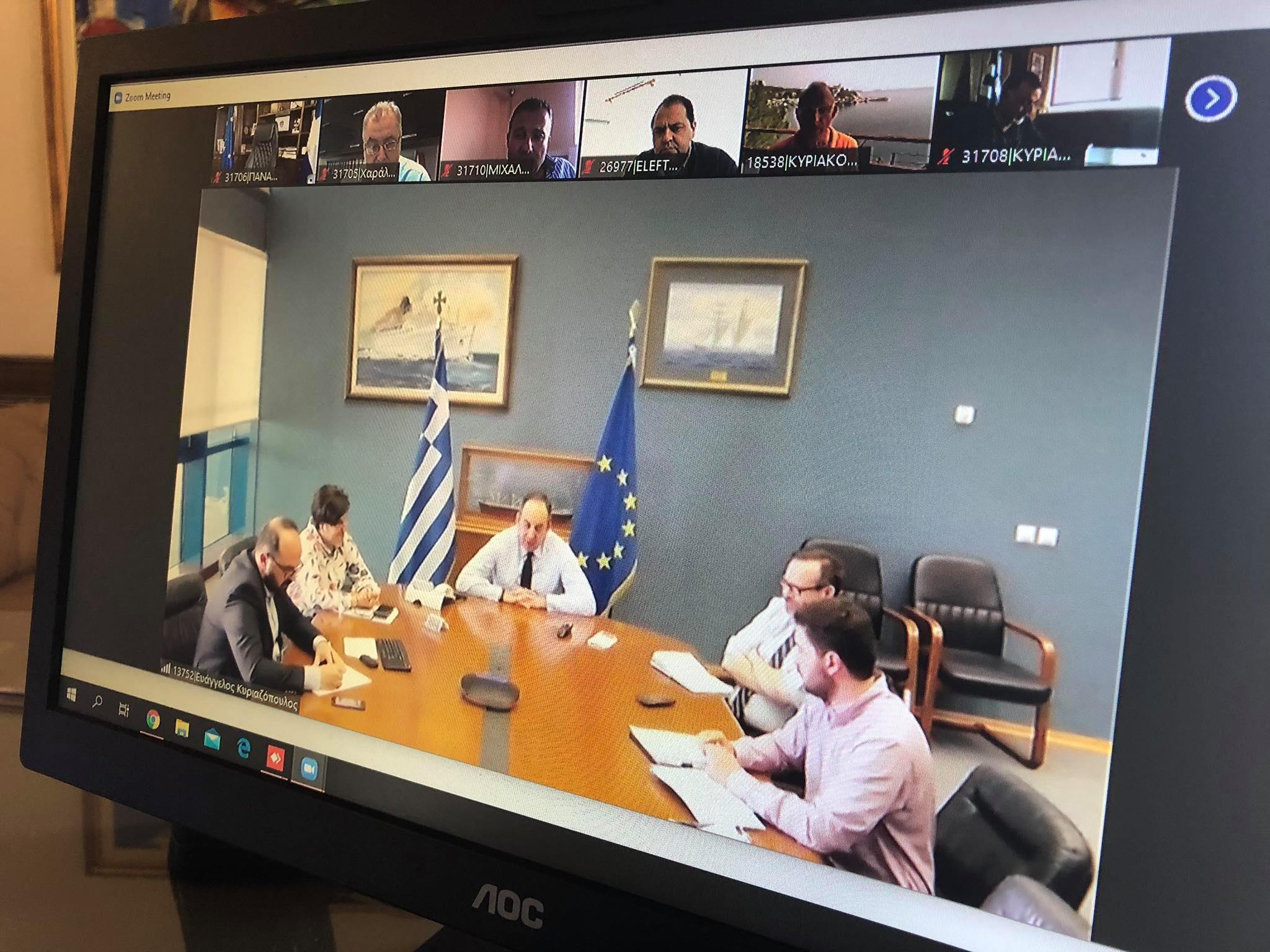 Δήμος Πύργου: Συμμετοχή του Δημάρχου και προέδρου του ΔΛΤ Πύργου Τάκη Αντωνακόπουλου σε τηλεδιάσκεψη με τον υπουργό Ναυτιλίας και Νησιωτικής Πολιτικής Γιάννη Πλακιωτάκη (Photos- ΒΙΝΤΕΟ)