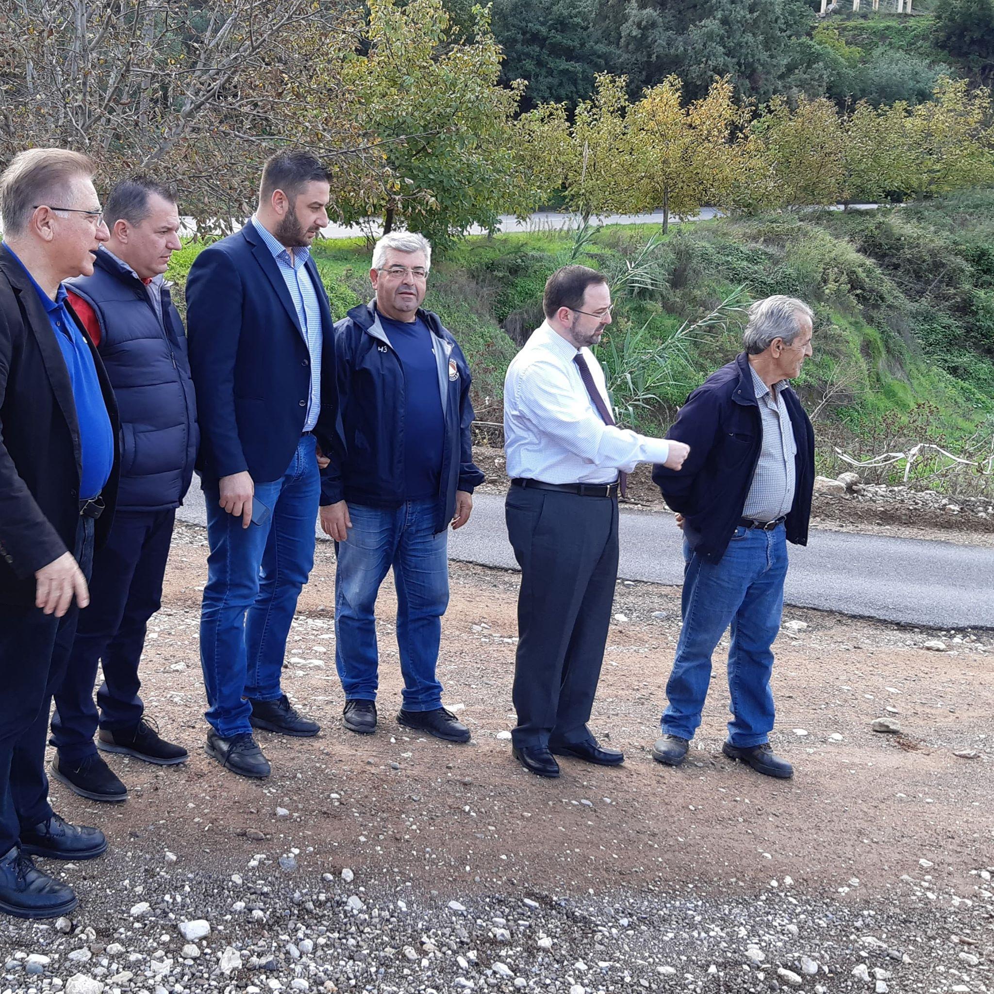 Νίκος Κοροβέσης: Αυτοψία στην αποκατάσταση του δρόμου της Αρήνης