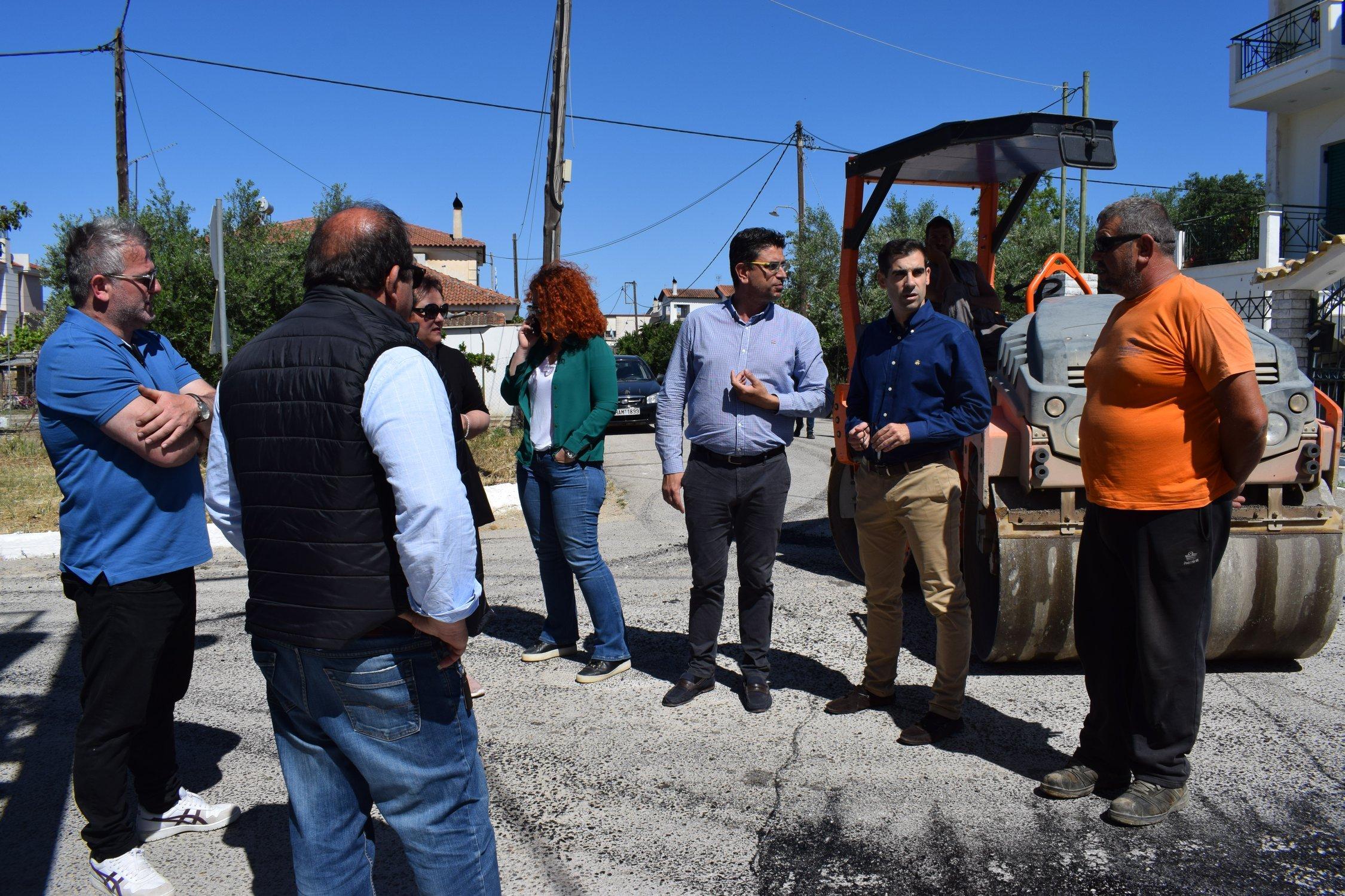 Δήμος Ανδραβίδας-Κυλλήνης: Εντατικοποίηση των έργων ασφαλτόστρωσης