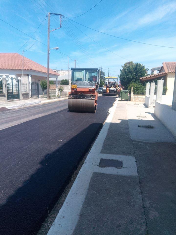 Δήμος Ανδραβίδας-Κυλλήνης: Έργα ασφαλτοστρώσεων στη Τ.Κ. Μανολάδας