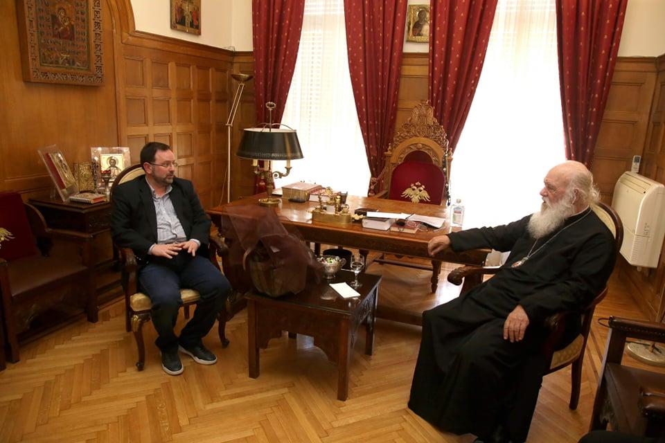 Νίκος Κοροβέσης: Συνάντηση με Αρχιεπίσκοπο για τον θρησκευτικό τουρισμό! (photos)