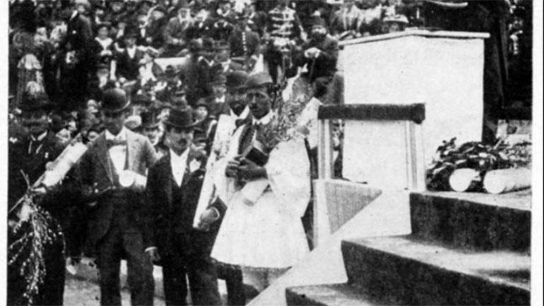 Το ολόγραμμα του κυπέλλου Bréal του Σπύρου Λούη παραδίδεται στην Ολυμπία (photos)