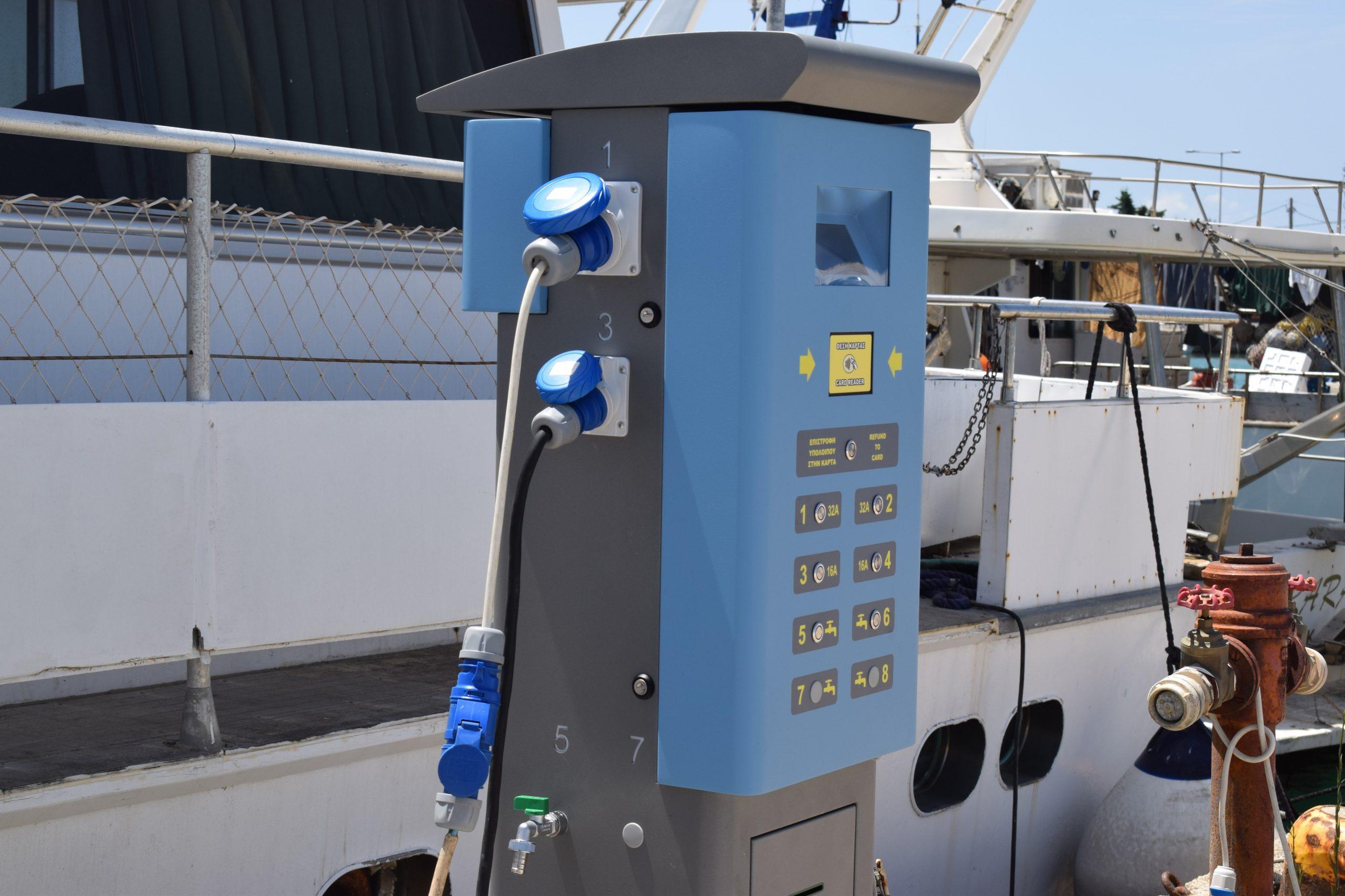 Στο λιμάνι της Κυλλήνης: «Smart Port» με εγκατάσταση Μονάδων Παροχής Ρεύματος και Νερού (Pillar)