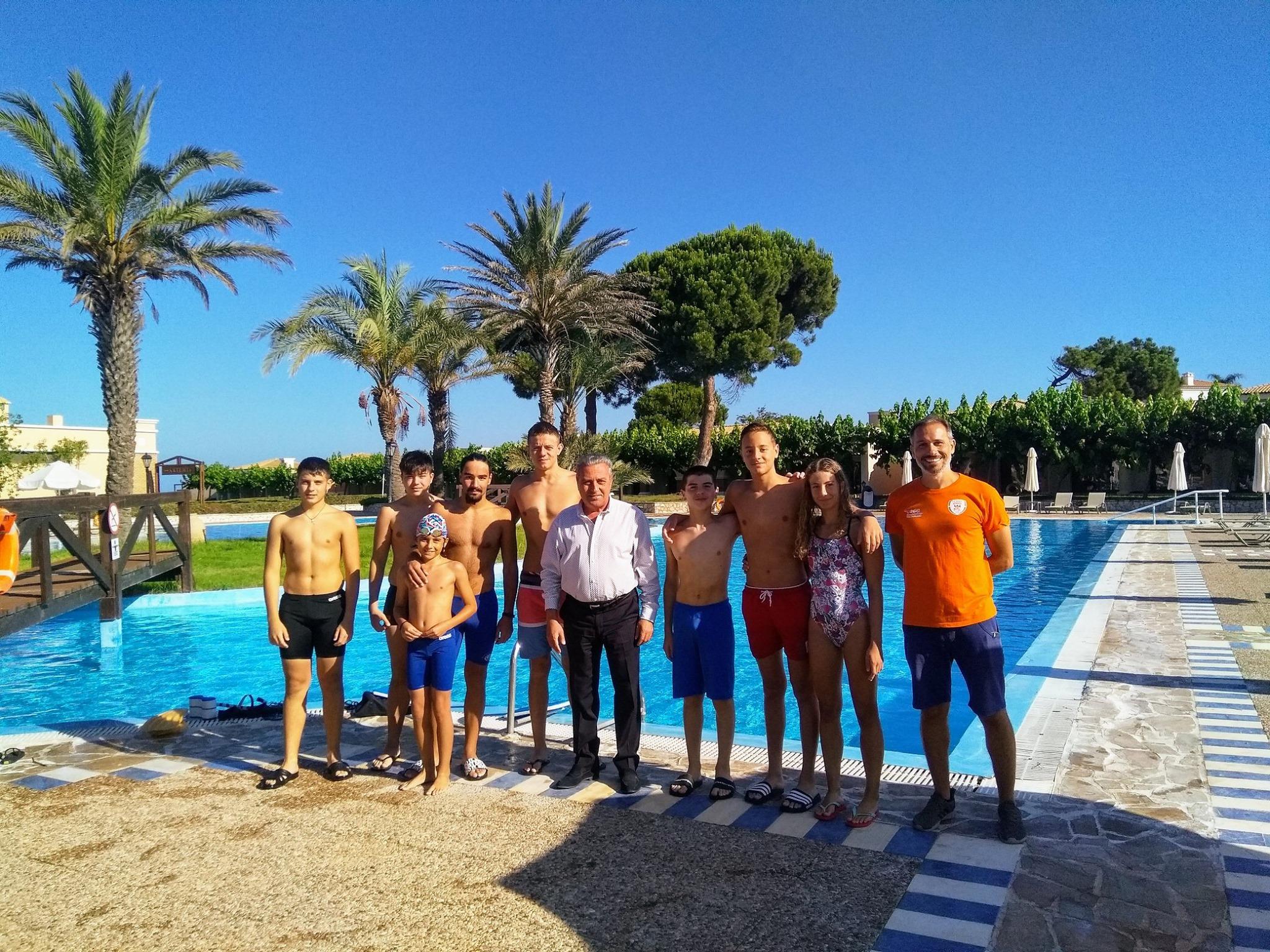 Επειός Γ.Σ. Ήλιδας: Προπονήσεις των αθλητών κολύμβησης στο Aldemar Resorts Olympian Village