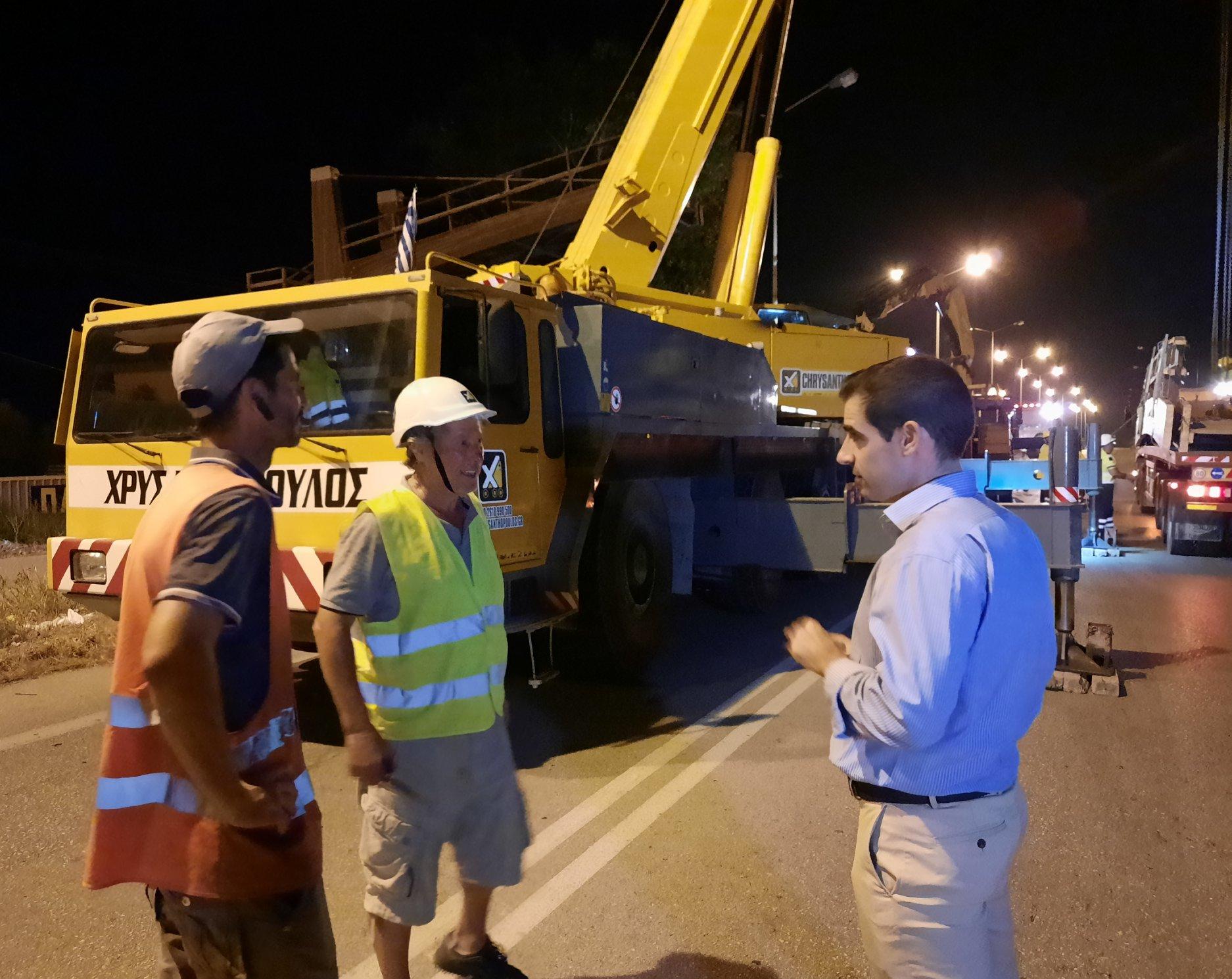 ΠΕ Ηλείας: Ολοκληρώθηκε η αποξήλωση της επικίνδυνης πεζογέφυρας στον ΟΑΕΔ στον Πύργο- Βασίλης Γιαννόπουλος: «Επιβεβλημένη η αποξήλωση λόγω της επικινδυνότητας» (photos)