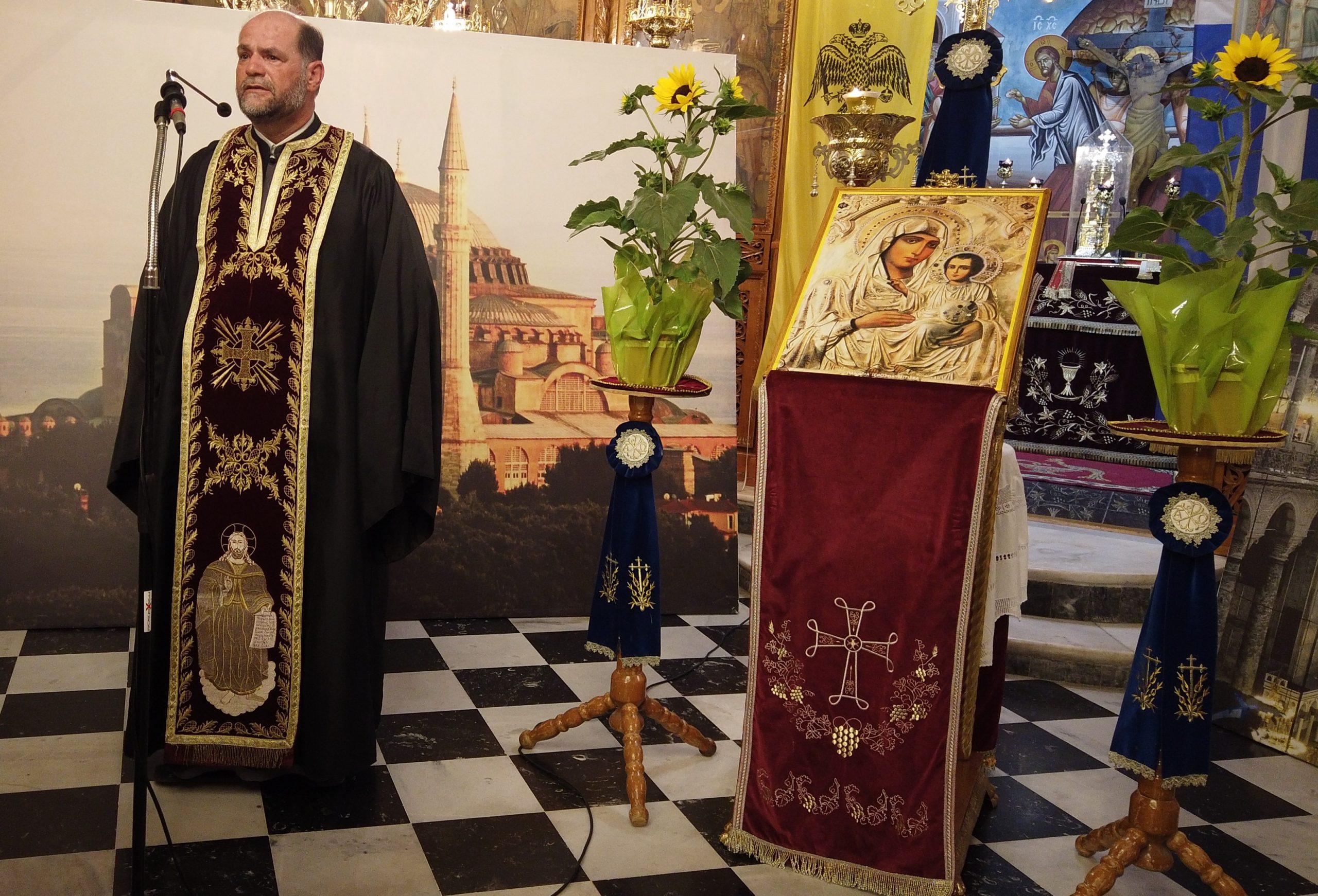 Παρακλητική Ικεσία στην Υπέρμαχο Στρατηγό για την «Αγιά Σοφιά», στον Ι.Ν. Αγίου Σπυρίδωνος Πύργου
