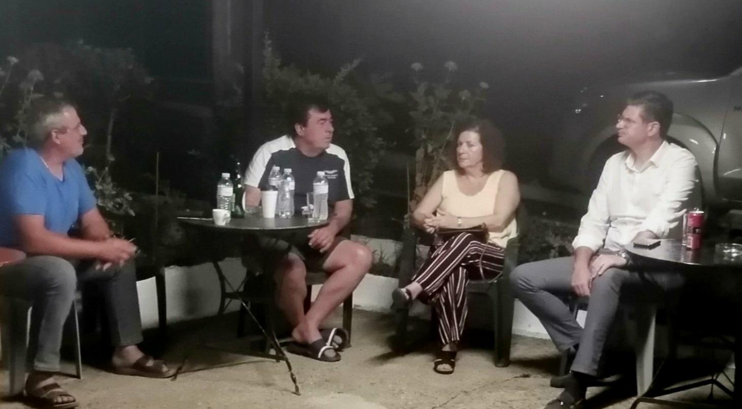 Οργάνωση Μελών ΣΥΡΙΖΑ Δ. Ήλιδας: Κλιμάκιο του κόμματος επισκέφθηκε την Τ.Κ. Δάφνης που με τις γύρω περιοχές δοκιμάστηκαν από την πρόσφατη πυρκαγιά