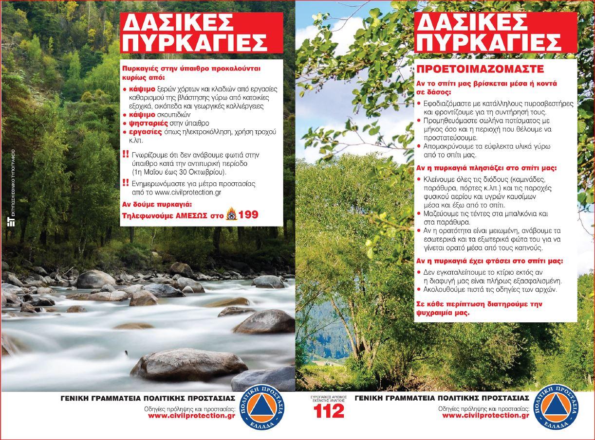 """""""Στο κόκκινο"""" αύριο Παρασκευή 4/9 η Ηλεία και η Δυτ. Ελλάδα- Πολύ υψηλός ο κίνδυνος πυρκαγιάς - Απαγόρευση κυκλοφορίας οχημάτων και παραμονής εκδρομέων σε εθνικούς δρυμούς, δάση- Μήνυμα από το """"112"""" και στην Ηλεία"""