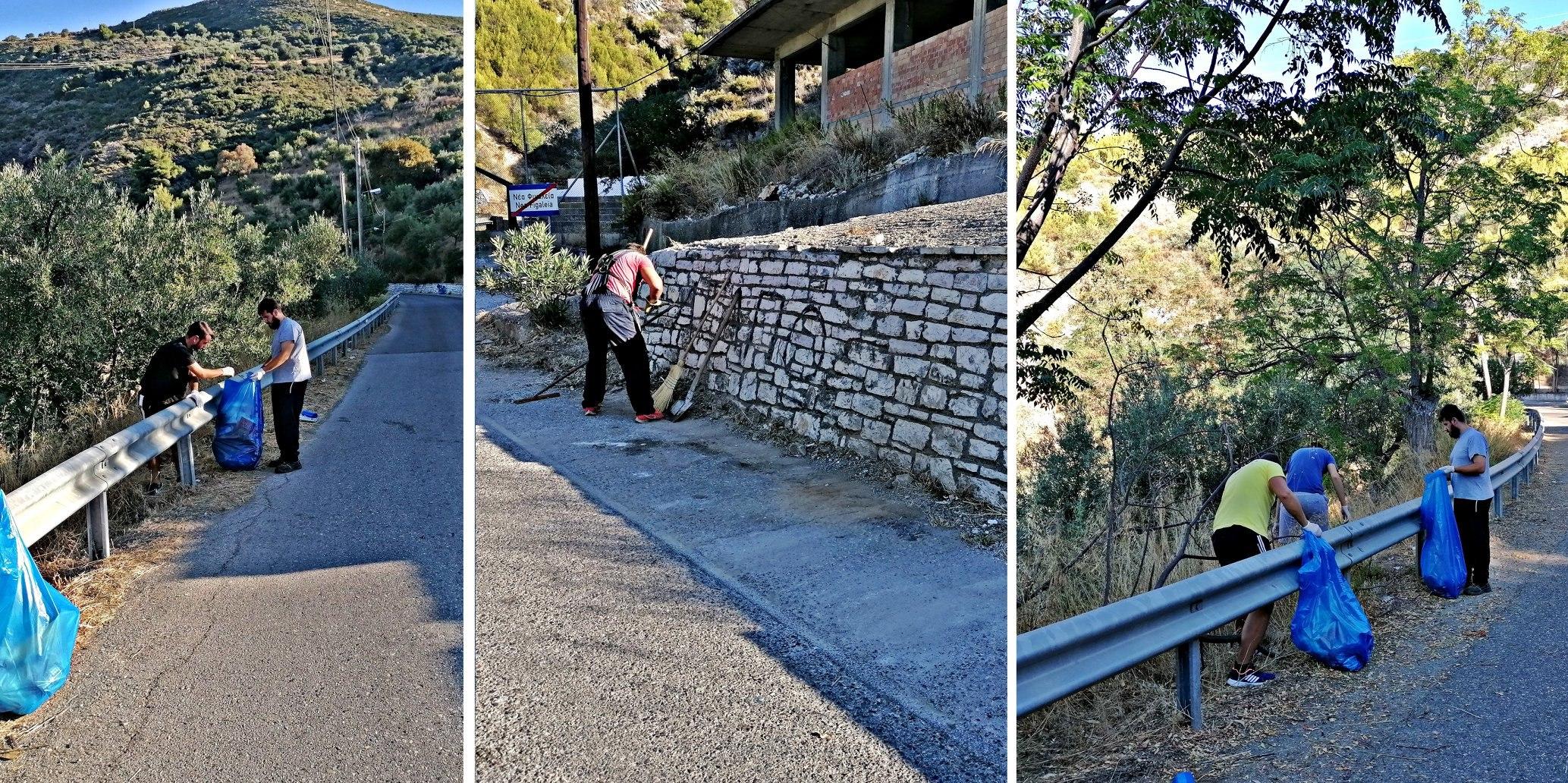 Νέα Φιγαλεία: Εθελοντές καθάρισαν την είσοδο της πόλης- Σεβασμό στο περιβάλλον ζητούν από τους πολίτες (photos)