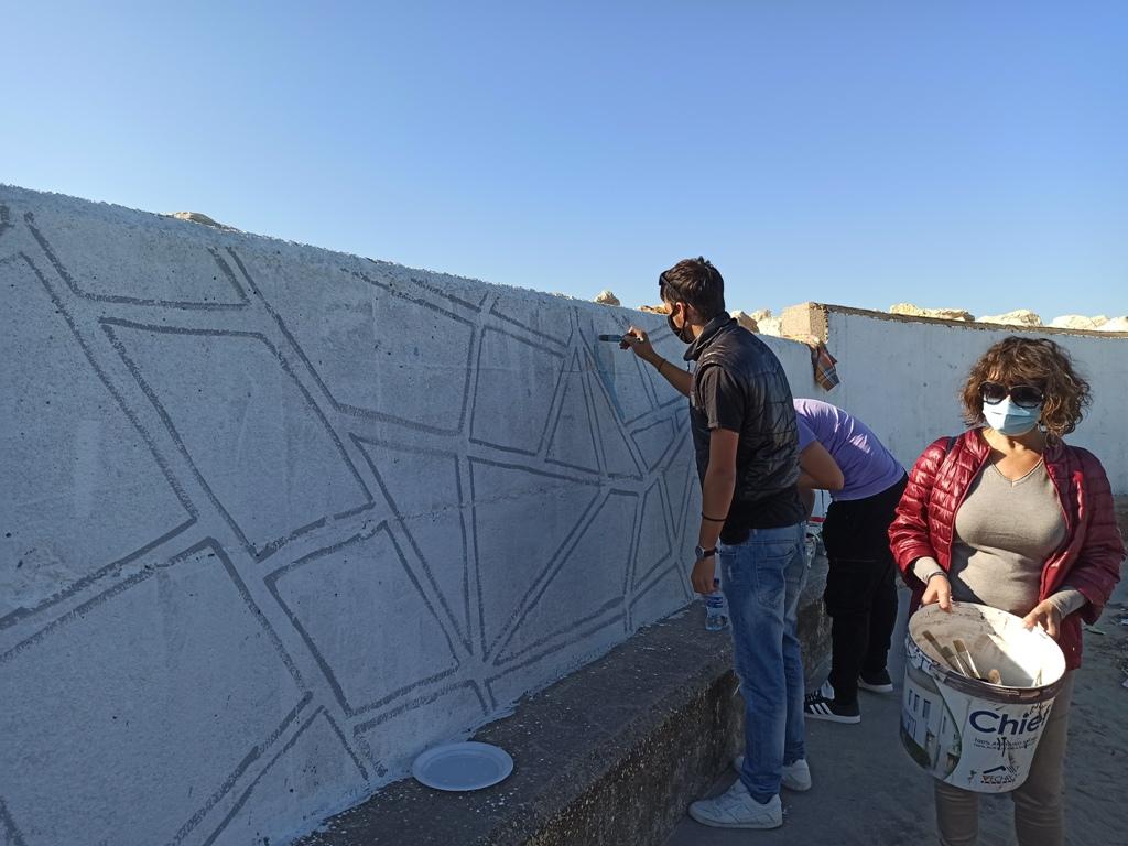 Δήμος Ήλιδας: Μαθητές των δυο ΕΠΑΛ της Αμαλιάδας, «μυήθηκαν» στο γκράφιτι- Βιωματικό εργαστήρι στο Παλούκι στο πλαίσιο της δράσης «Αλλάζουμε την πόλη» (photos)