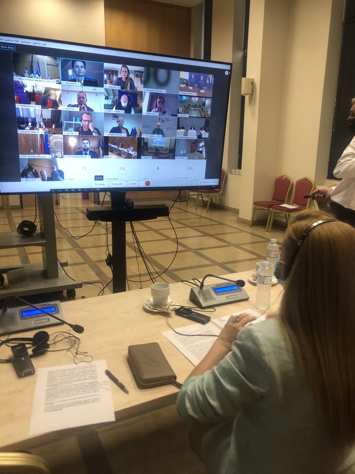 Συμμετοχή Αυγερινοπούλου στην τηλεδιάσκεψη των Κοινοβουλίων των Κρατών - Μελών της Ε.Ε.- Στο επίκεντρο η Ευρωπαϊκή Πράσινη Συμφωνία και η Κοινή Αγροτική Πολιτική