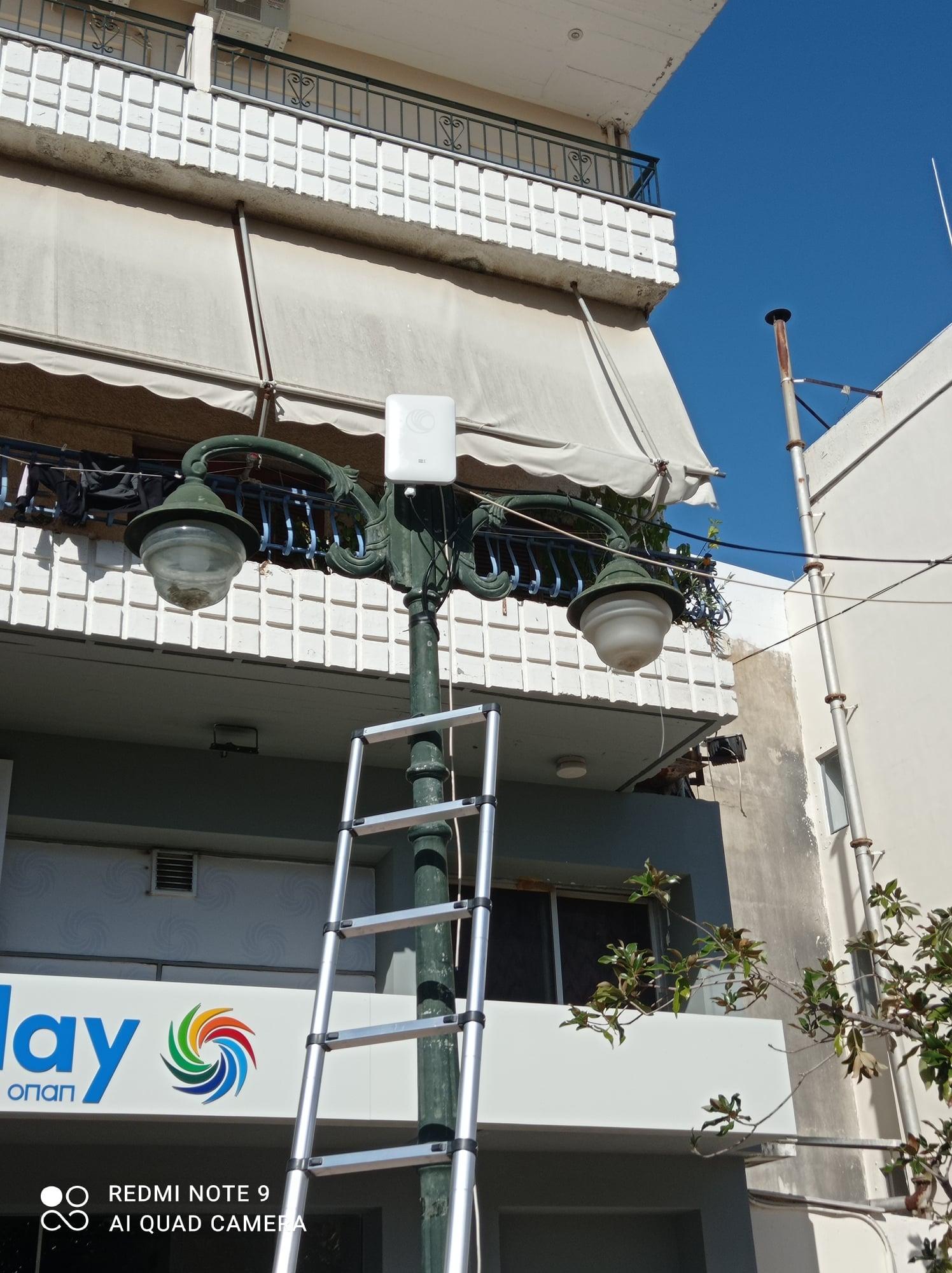 Αμαλιάδα: Εγκατάσταση Κεραιών για Free Internet από Δήμο Ήλιδας στην πόλη της Αμαλιάδας στα πλαίσια του ευρωπαϊκού προγράμματος WIFI4EU (photos)