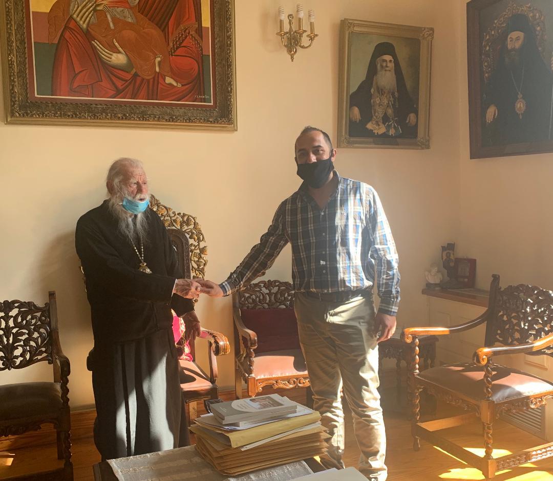 Δήμος Πύργου: Επίσκεψη υπευθύνου Γραφείου Εθελοντισμού του Δήμου στον Σεβασμιότατο Μητροπολίτη Ηλείας κ.κ. Γερμανό