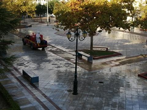 Δήμος Πύργου: Απολυμάνσεις σε πλατείες και κοινόχρηστους χώρους
