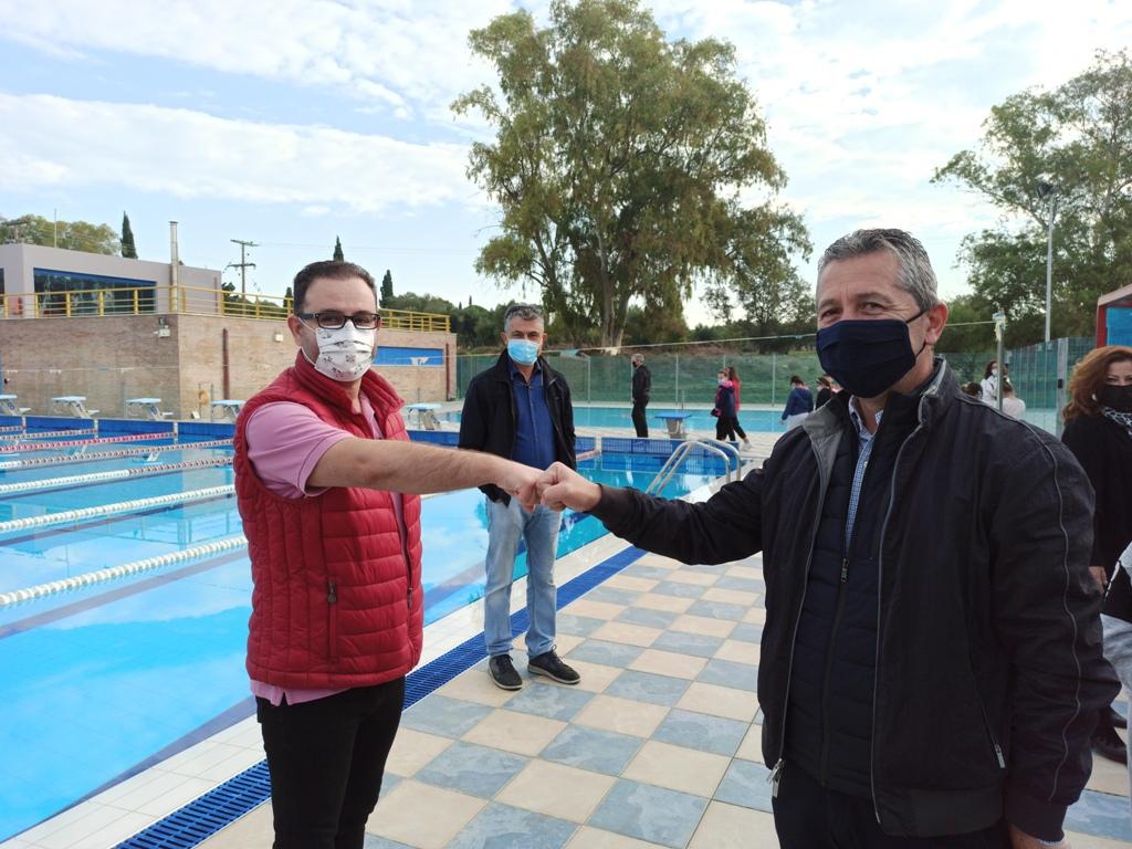 Επίσκεψη Μπακέλα – Κλάδη στις εγκαταστάσεις του Αθλητικού Κέντρου Αμαλιάδας: Το μοναδικό κολυμβητήριο που υλοποιείται το πρόγραμμα κολύμβησης για μαθητές των Δημοτικών Σχολείων
