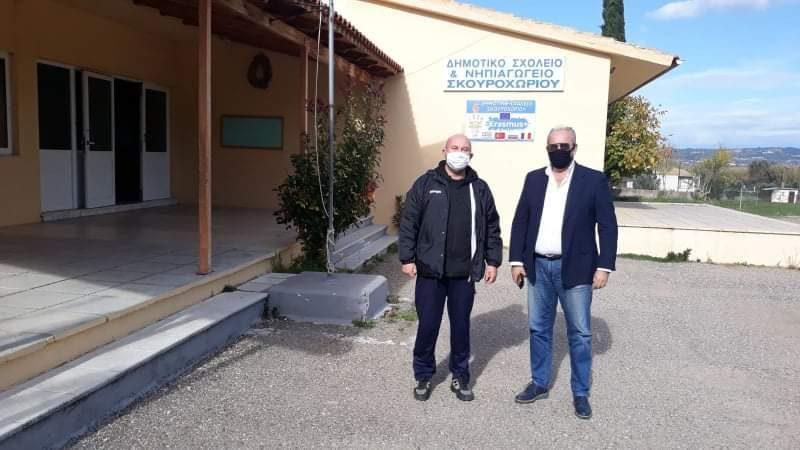 Δήμος Πύργου: Προληπτική απολύμανση στο δημοτικό σχολείο του Σκοροχωρίου πραγματοποίησε πρόσφατα η Πολιτική Προστασία του Δήμου (photos)