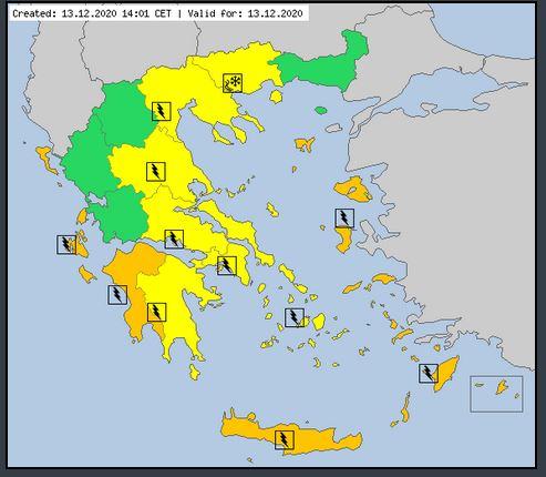 """ΠΔΕ: Νέο Έκτακτο Δελτίο Επικίνδυνων Καιρικών Φαινομένων από την ΕΜΥ- Συνεχίζονται οι βροχές και καταιγίδες- Θα """"χτυπήσει"""" και στη Δυτική Πελοπόννησο"""