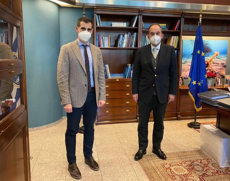 Θέμα χρόνου η έναρξη του έργου αναβάθμισης της χερσαίας ζώνης Κατακόλου - Συνάντηση Β. Γιαννόπουλου με Γ. Πλακιωτάκη