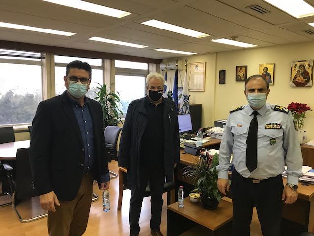 Ο Δήμαρχος Ανδραβίδας-Κυλλήνης Γ. Λέντζας στο Υπουργείο Τουρισμού και στο Αρχηγείο της Ελληνικής Αστυνομίας