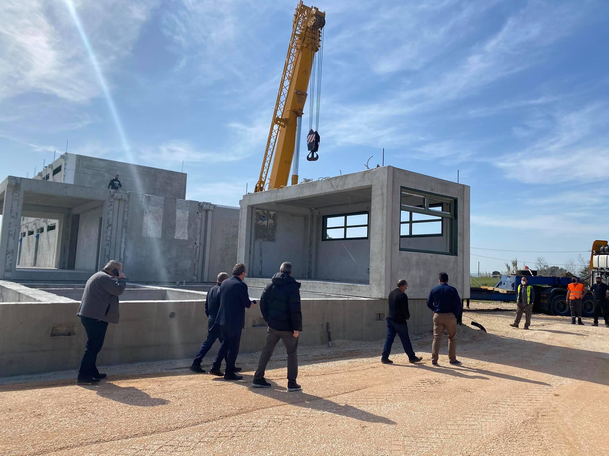 Δήμος Ανδραβίδας-Κυλλήνης: Επίσκεψη- αυτοψία Δημάρχου Γ. Λέντζα στο υπό κατασκευή Γενικό Λύκειο Λεχαινών (photos)
