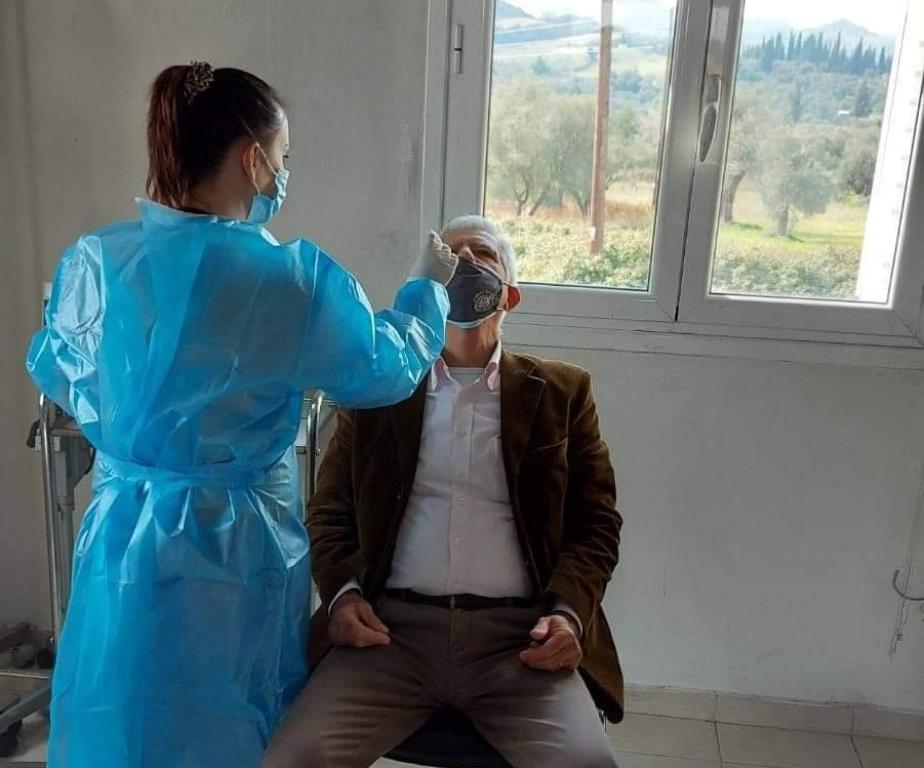 Δήμος Ήλιδας: Δωρεάν διαγνωστικοί έλεγχοι rapid test covid19 για τους κατοίκους Εφύρας από κλιμάκιο του ΕΟΔΥ- Βρέθηκε 1 θετικό σε 104 δείγματα και θα επανεξεταστεί (photos)