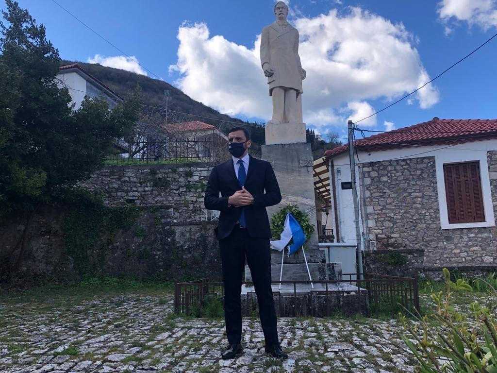 """Στην Ανδρίτσαινα για τις επετειακές εκδηλώσεις ο Ανδρέας Νικολακόπουλος: """"Μας καθοδηγούν οι αξίες του Ελληνισμού"""""""