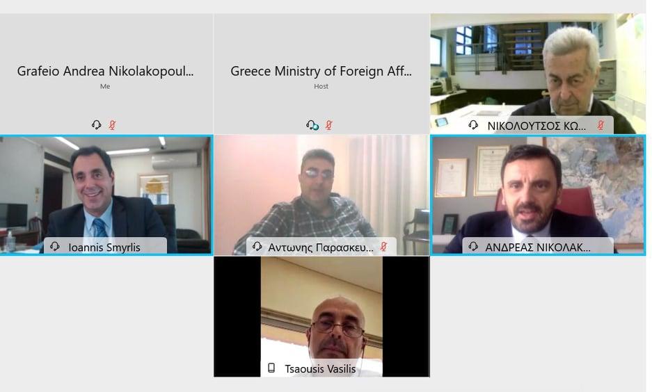 Τηλεδιάσκεψη Ανδρέα Νικολακόπουλου και Επιμελητηρίου Ηλείας με τον Πρόεδρο της ENTERPRISE GREECE