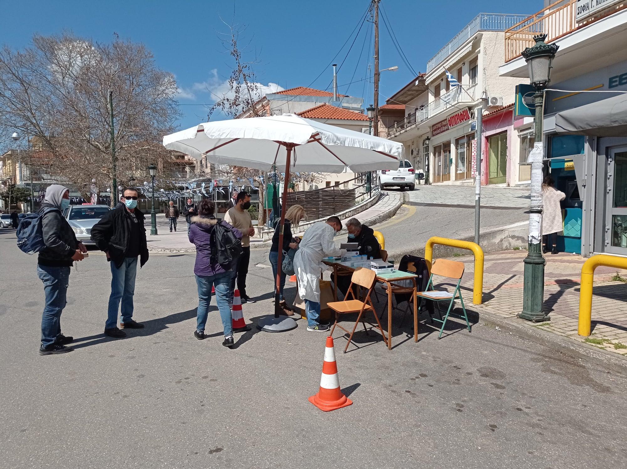 Δήμος Ανδρίτσαινας- Κρεστένων: Αρνητικά και τα 139 rapid test που έγιναν την Τετάρτη 24/3 στην Κρέστενα