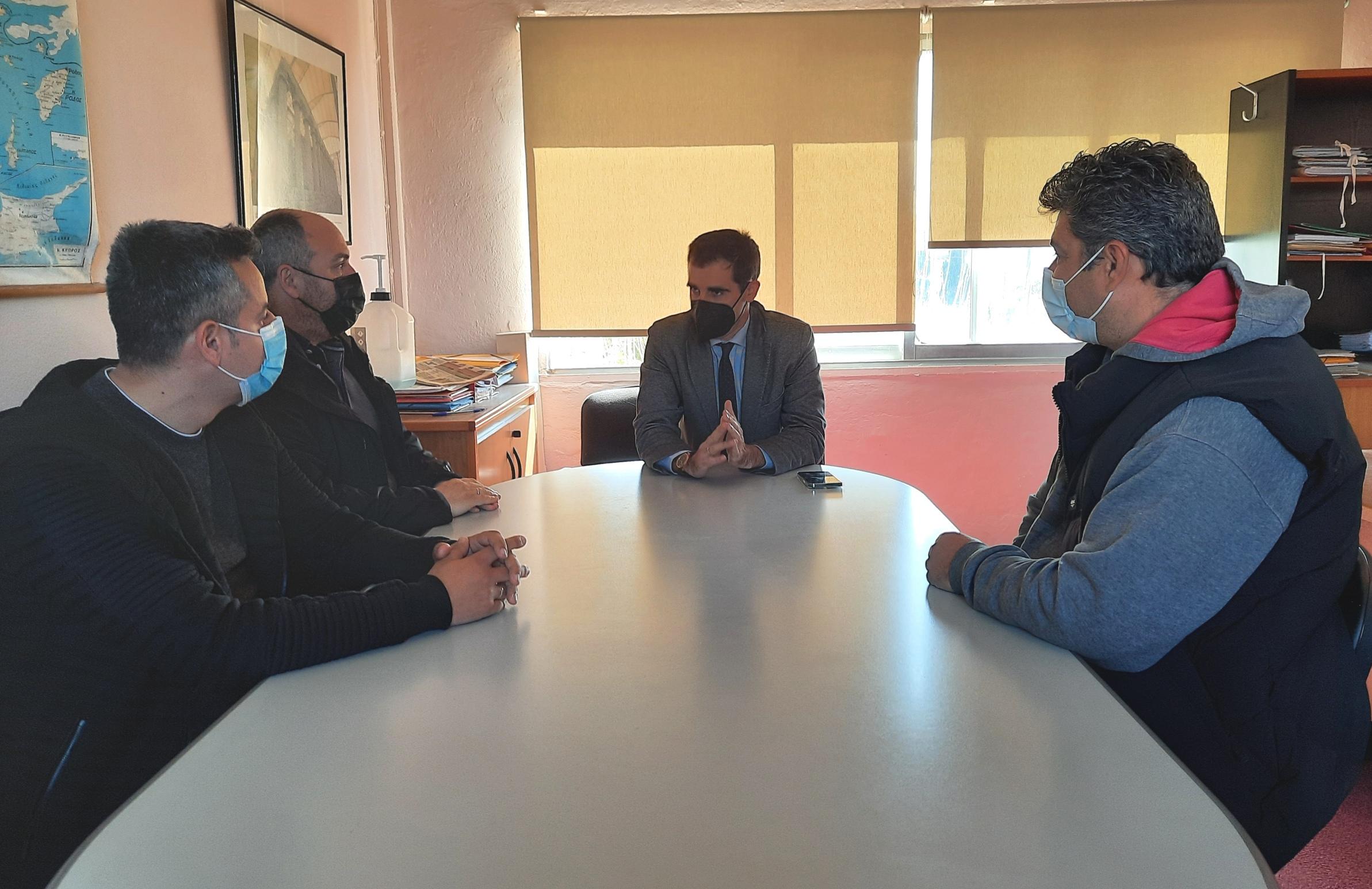 Επίσκεψη Αντιπεριφερειάρχη Π.Ε Ηλείας Β. Γιαννόπουλου, στις εγκαταστάσεις του ΓΟΕΒ Πηνειού - Αλφειού