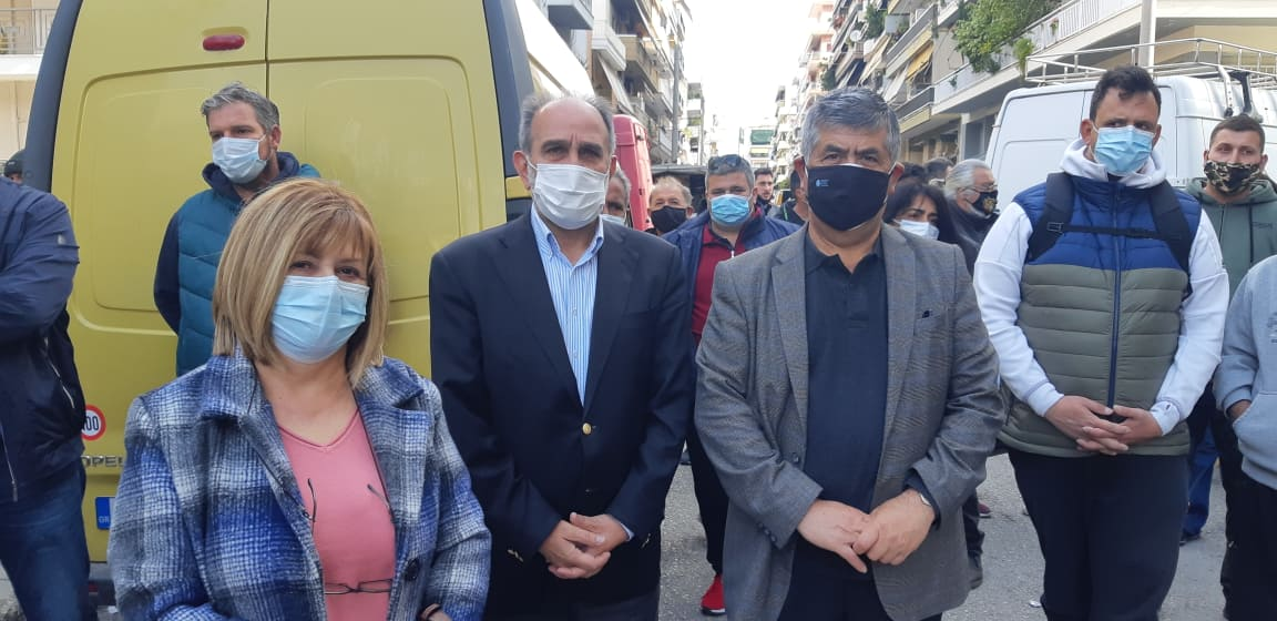 Απ. Κατσιφάρας: Δίπλα στους εργαζόμενους του μόχθου και της γειτονιάς