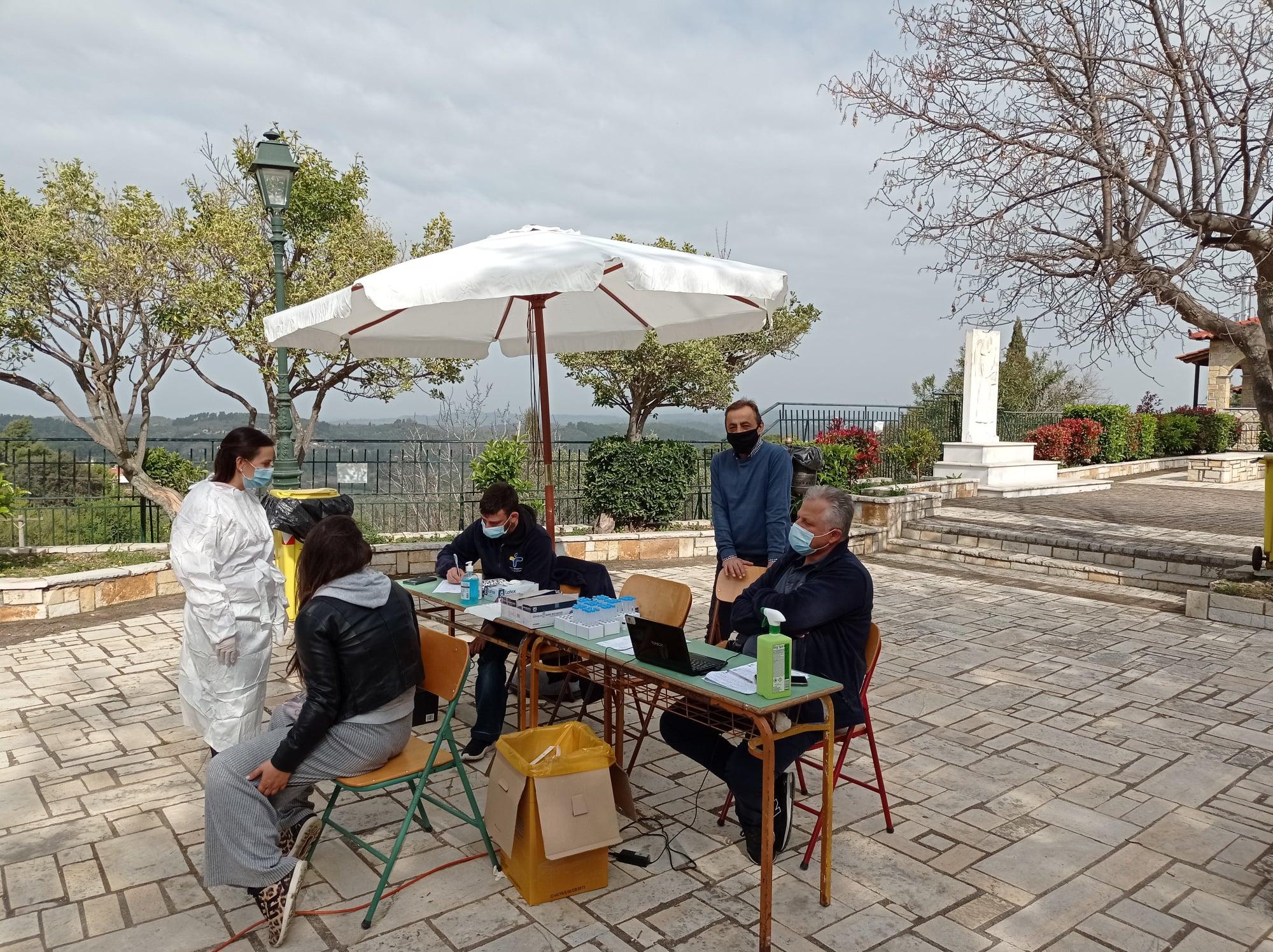 Δήμος Ανδρίτσαινας-Κρεστένων: «Καθαρή» από κορωνοϊό και η περιοχή της Βρίνας- Αρνητικά και τα 125 rapid test (photos)