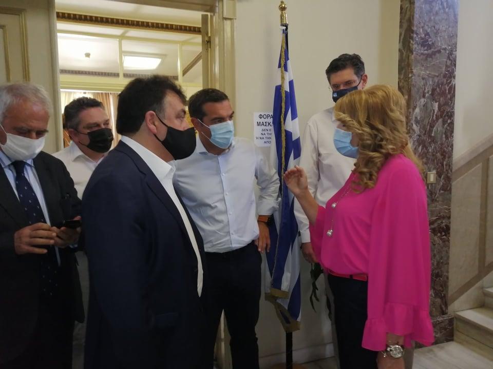 Πύργος: Συναντήσεις του Αλέξη Τσίπρα στο Λάτσειο Μέγαρο με Γ. Παναγιωτόπουλο και Ν. Γιαννάρου (photos)