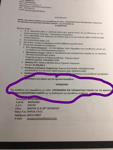 """Δημήτρης Κωνσταντόπουλος: """"Στο… «μικροσκόπιο» η ΔΙΑΥΓΕΙΑ  που «προδίδει» το Δήμο Ήλιδας!! -Αποκαλυπτικά στοιχεία για αποφάσεις που περνάνε... τρένο"""""""