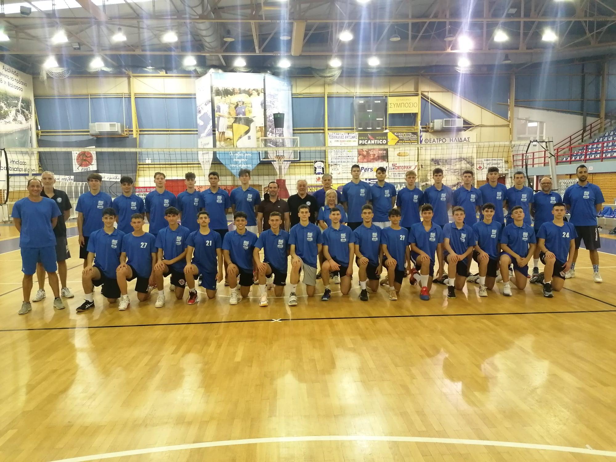 ΠΔΕ: Στην προετοιμασία της προεθνικής ομάδας βόλεϊ Παμπαίδων παραβρέθηκε ο Αντιπεριφερειάρχης Αθλητισμού, Εθελοντισμού και Ολυμπισμού Δημήτρης Νικολακόπουλος