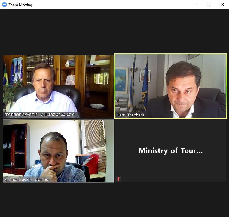 Παρέμβαση Θεοχάρη για άρση περιορισμών σε Κατάκολο - Ολυμπία -για την κρουαζιέρα στην Αρχαία Ολυμπία  -Τι ανέφερε ο Υπουργός Τουρισμού σε τηλεδιάσκεψη με Γεωργιόπουλο (photos)